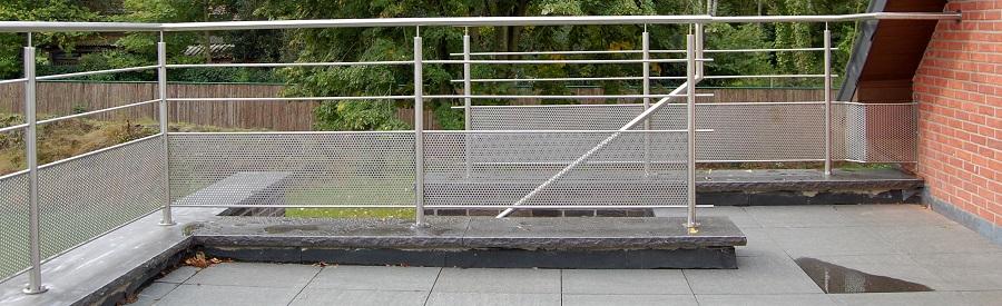 Inox balustrade inox balustrades laten maken herco limburg - Terrassen fotos ...
